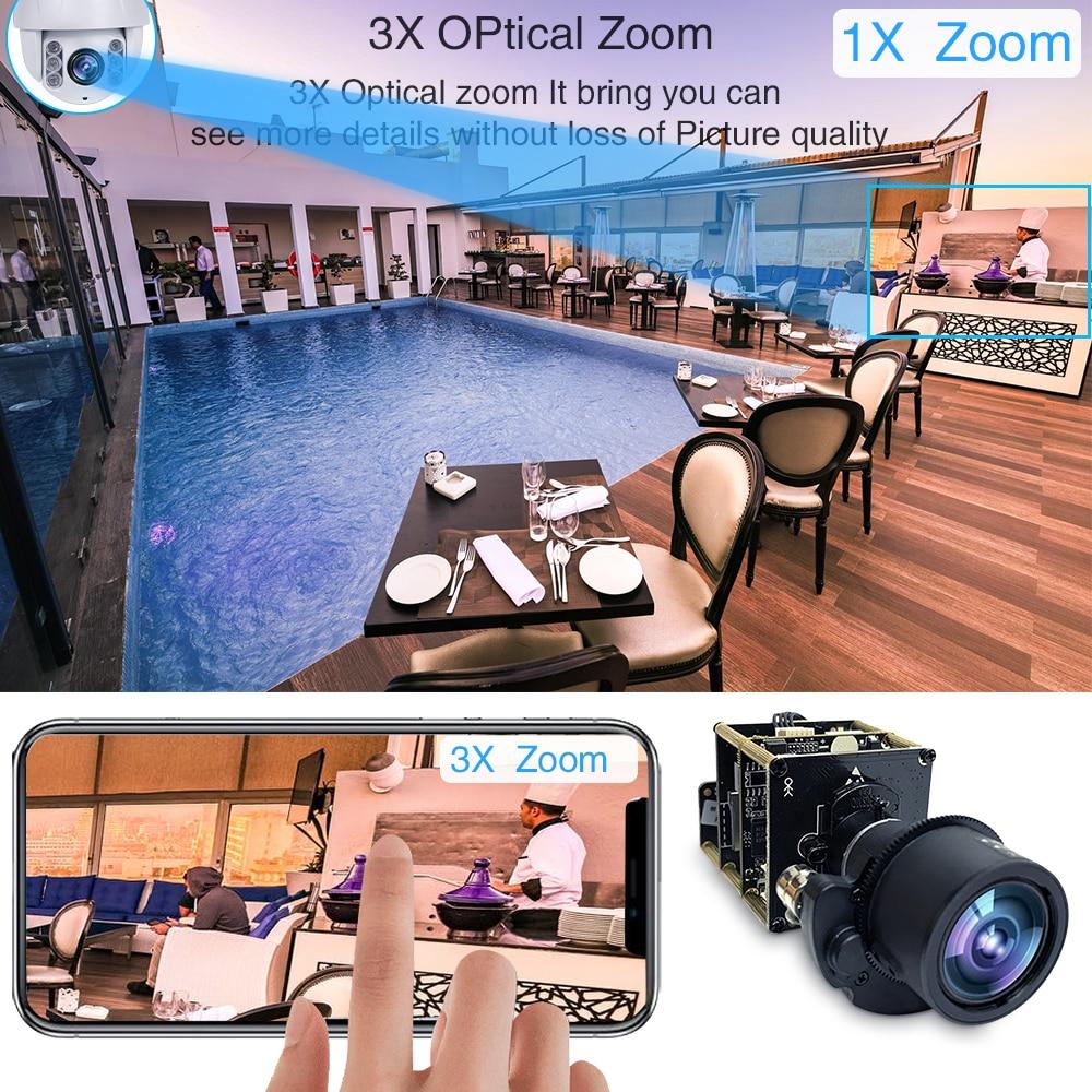 4K 12MP Starlight UHD Camera Module 3X Zoom 3 11mm Motorized Lens Sony IMX226 onvif PTZ Network IP Camera Board H.265 - 4
