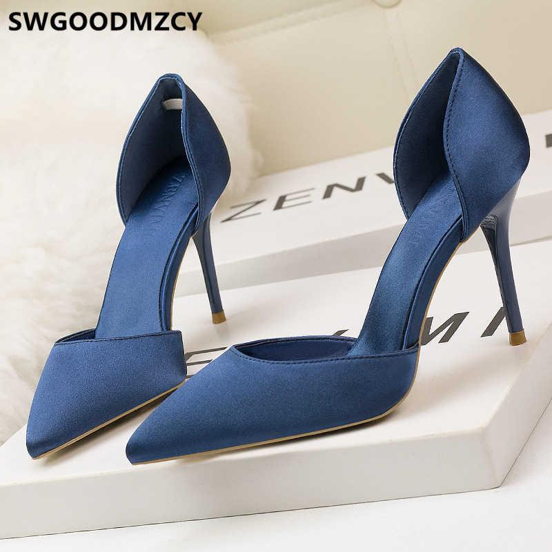 Pembe ayakkabı kadın bayanlar topuklu bayan pompaları kadın ayakkabı fetiş yüksek topuklu seksi stiletto zarif ayakkabı kadın lüks topuklu buty