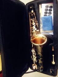 Hot sale saxophone black Alto brass engraving mode black gold Sax musical instruments professional saxophone