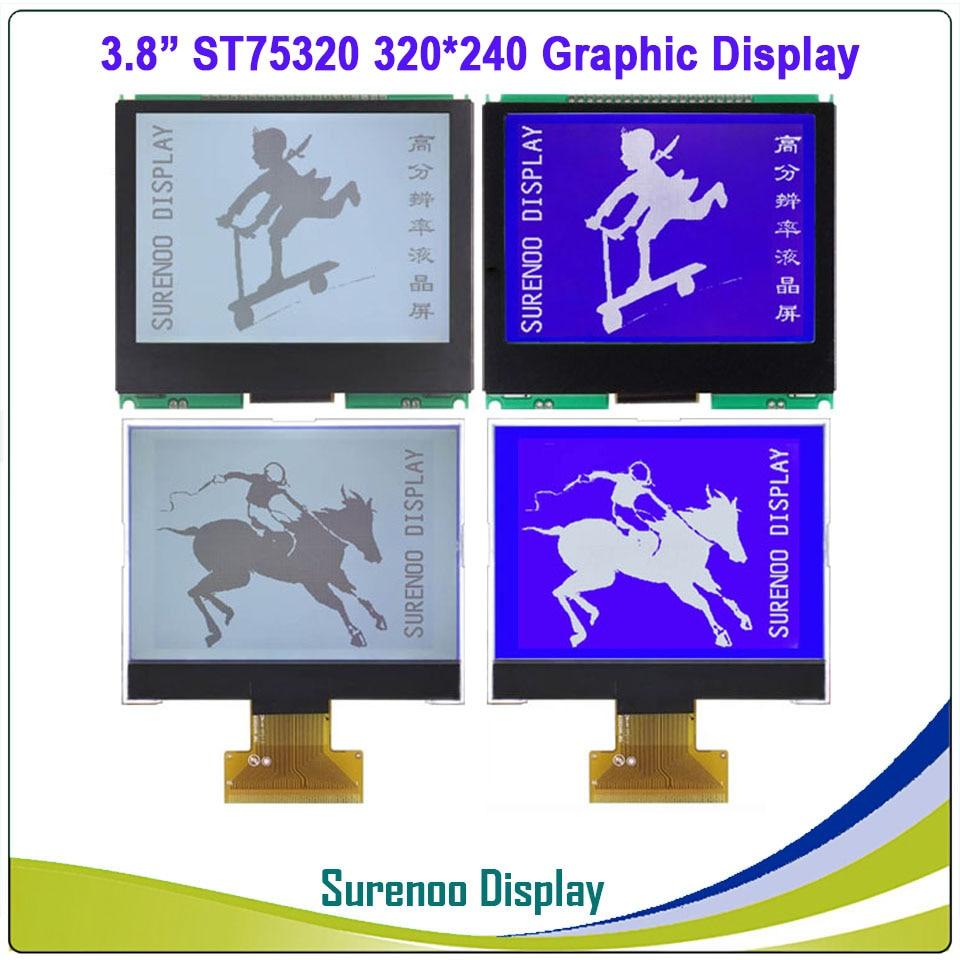 3,8 320X240 320240 Графический ЖК модуль дисплей панель экран LCM с ST75320 контроллер поддержка последовательного SPI