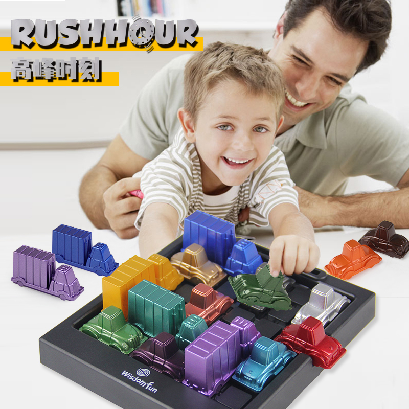 Rush Hour IQ Car Logic Game Toy Educational Puzzle Toy Creative Plastic Board Game Racing Break Car Toys For Children