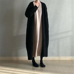 Invierno Trui mujer largo MUW chaleco largo cuello en V restauración elegante mujeres usadas Overwear cálido Trui Overwear