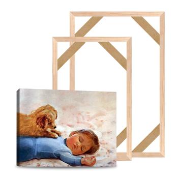 Naturalnie drewniane DIY ramki na płótnie malarstwo plakaty zdjęcia ramki 60X90 50 #215 75 ramki na zdjęcia Longlife drewna niestandardowy plakat ramki tanie i dobre opinie Nowoczesne Rectangle EF0428 Wooden DIY Frame Malowanie ramki About 3cm 1 18 Canvas Frame diy Canvas Frame Wood Wooden Canvas Frames