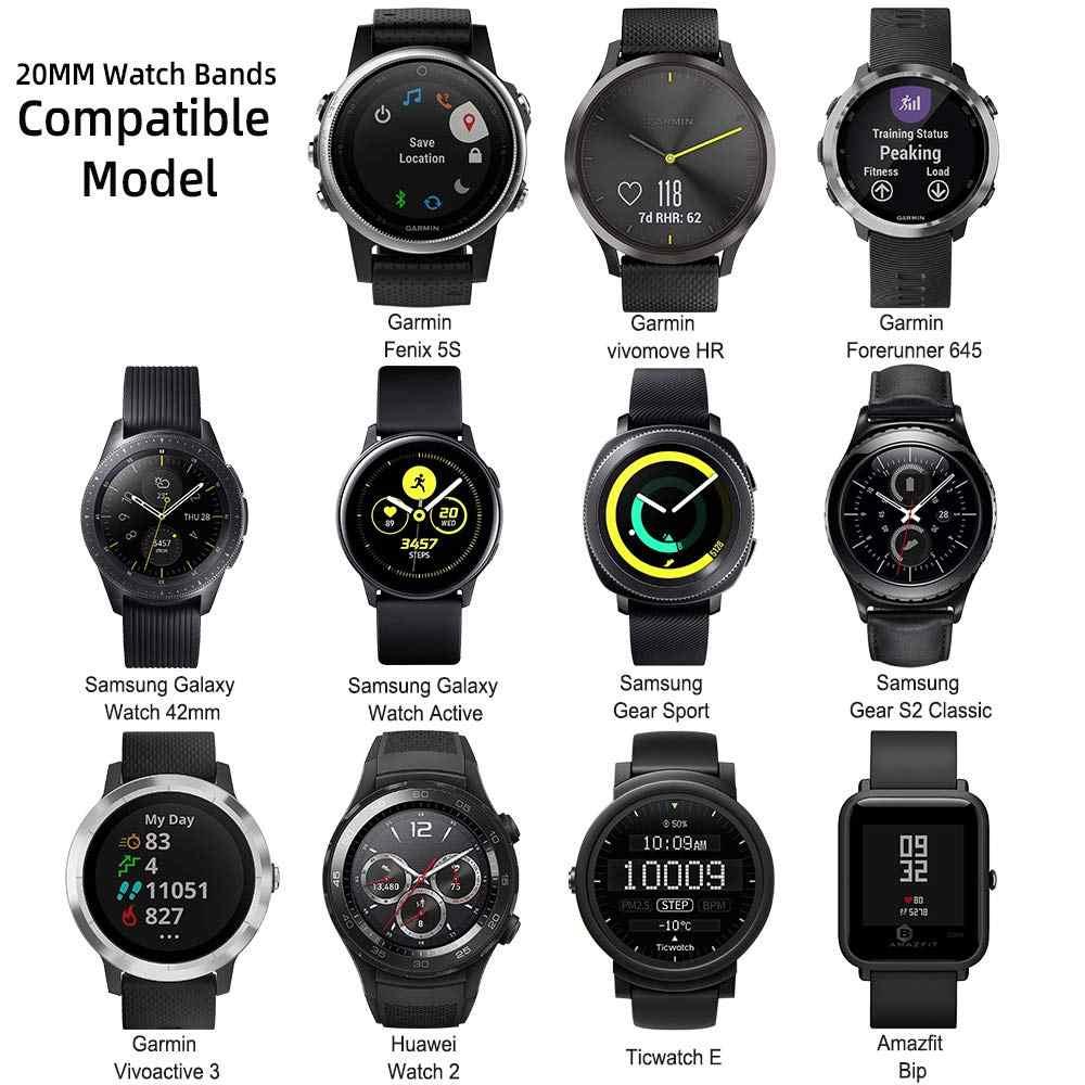 עבור סמסונג גלקסי שעון פעיל 2 רצועת 46mm 42 הילוך S3 huawei שעון 2 רך סיליקון צמיד 20mm 22mm רצועת גלקסי להקת שעון