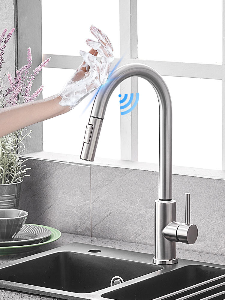Mixer Tap Sink-Faucets Spray Pull-Out Smart-Sensor Touch Hot-And-Cold-Water-Switch Convenient