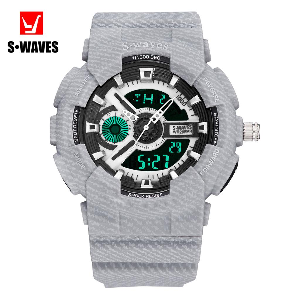 Gshock Hodinky Men Waterproof Dual Display Watch Digital Mens Wrist Watch Chronograph Electronic Clock Hand Military Gift Male