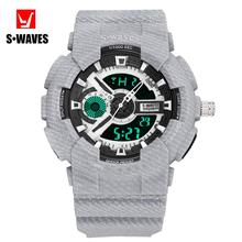 gshock Hodinky Men Waterproof Dual Display Watch Digital Men
