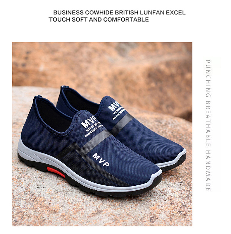 Summer Mesh Men Shoes Lightweight Sneakers Men Fashion Casual Walking Shoes Breathable Slip on Mens Loafers Zapatillas Hombre