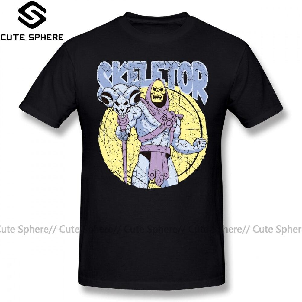 SKELETOR T Shirt SKELETOR T-Shirt Short Sleeve Funny Tee Shirt Graphic Men 5x Beach Cotton Tshirt