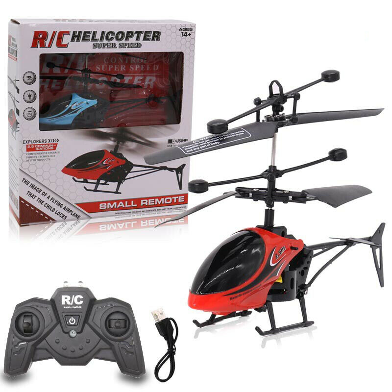 Купить с кэшбэком Kids Plane Remote RC Drone Flying Control Helicopter Induction 2CH QF810 Toys