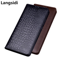 Business luxury genuine leather magnetic holder flip case cover for Google Pixel 2 XL/Google Pixel 2 phone case standing coque