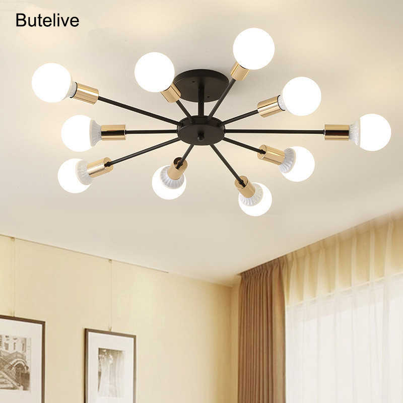 Modern Chandelier Lighting Industrial Nordic E27 Led Chandelier For Bedroom Living Room Lights Home Light Fixtures 10 8 6 Lights