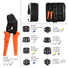 Multifunctional 7-inch SN-48B Crimp Tool And Interchangeable Die Core Crimp Tool Coaxial Cable Terminal Kit 0.5-1.5mm2 ClampTool