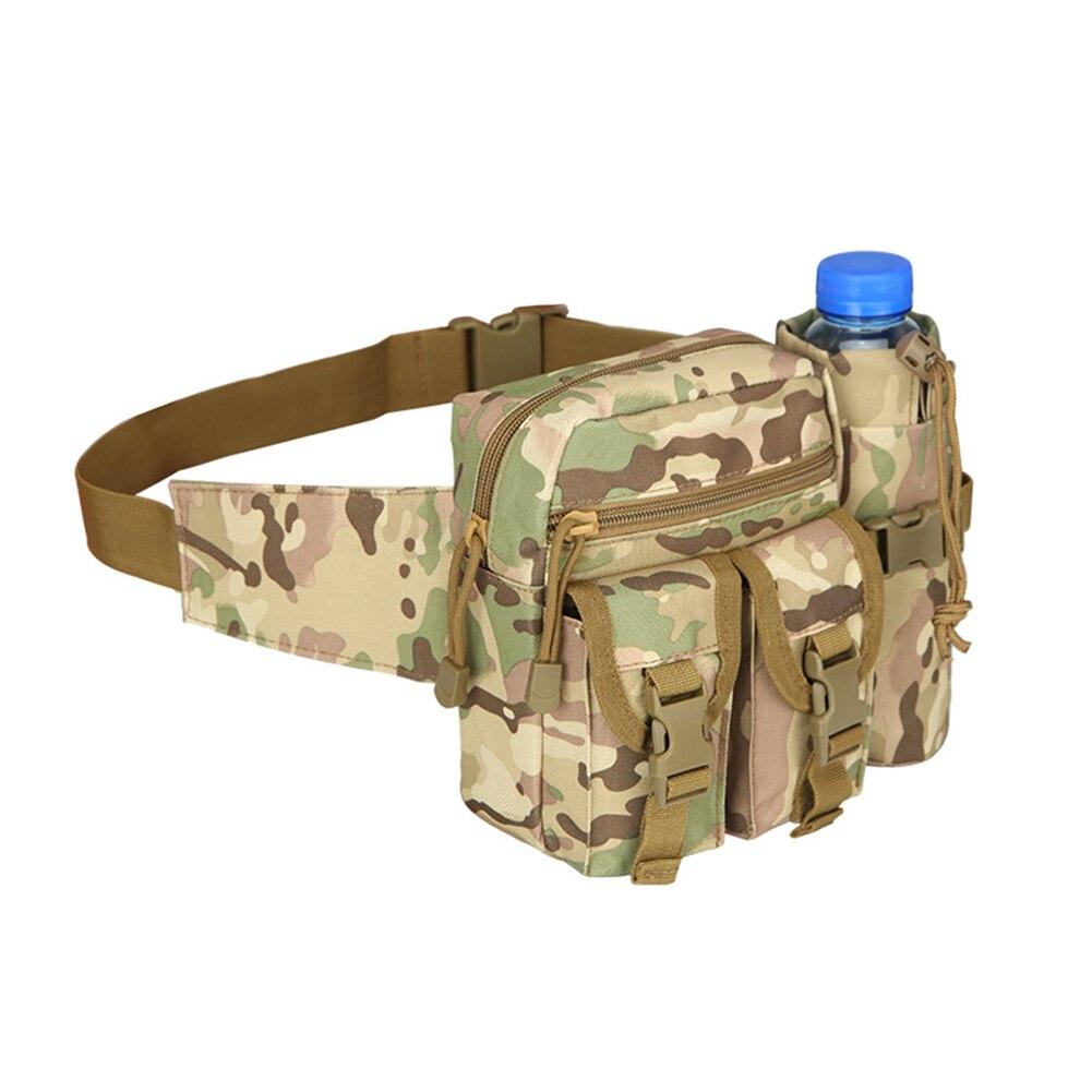 Practical Outdoor Travel Waist Bag Hiking Climbing Water Bottle Holding Waistbag Military Waist Pack Bags 600D Nylon Belt Bag