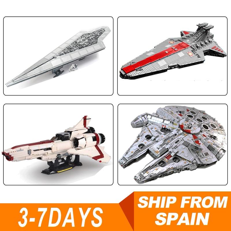 DHL ในสต็อก 05132 Star Destroyer Falcon 75192 Moc 9424 05077 10240 อิฐชุดบล็อกอาคารของเล่นเพื่อการศึกษา WARS-ใน บล็อก จาก ของเล่นและงานอดิเรก บน   1