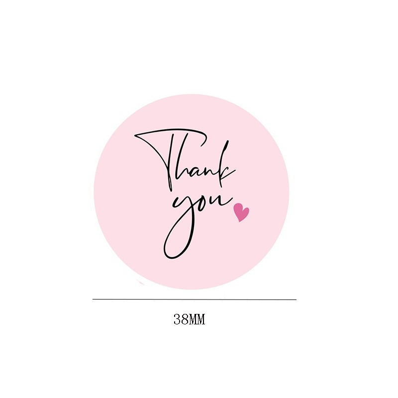 120pcs Thank You Stickers Pink Stickers for Company Giveaway Birthday Party Favors Labels Mailing Supplies Festival 6