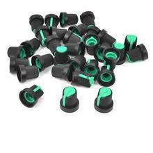 32 шт. 6 мм рифленый вал зеленый топ конус регулятор Громкости Крышка для потенциометра горшок