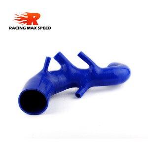 Image 1 - Dopływ powietrza turbo pleciony silikonowy wąż ssawny/rura niebieski dla AUDI TT 225 , S3 ,Seat Leon