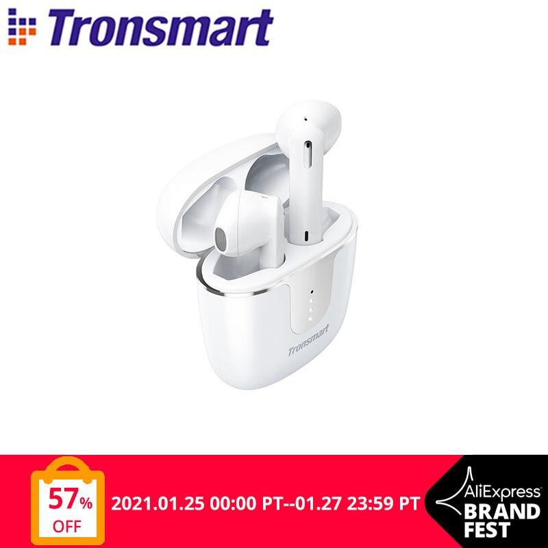 Tronsmart-auriculares inalámbricos Onyx Ace TWS con Bluetooth 5,0, dispositivo Qualcomm aptX con cancelación de ruido y 4 micrófonos, autonomía de 24H