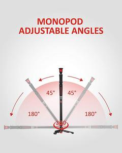 """Image 2 - ifootage A150S II profissional tripod for camera phone stand monopod for dslr match manfrotto 59"""" Aluminum Telescopin tripode"""