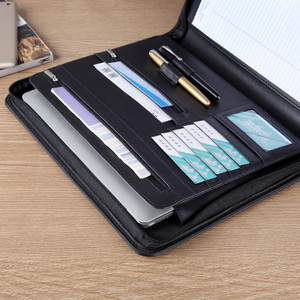 Image 4 - A4 비즈니스 관리자 파일 빌 문서 폴더 주최자 지퍼 서류 가방 외부 가방으로 회의 계약을위한 padfolio