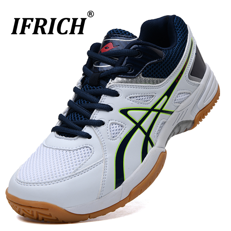 Men Women Professional Volleyball Tennis Sneakers Sport Shoes Mesh Breathable Badminton Shoes Men Sport Trainers 2019
