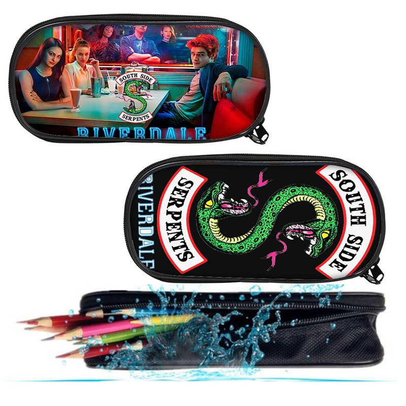 School Bags Riverdale Pencil Case Southside Canvas Zipper Bag Girls South Side Serpents Riverdale Storage Bag