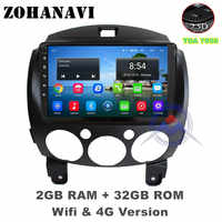 ZOHANAVI 9inch 2.5 D Android car Multimedia Player For Mazda 2 2007- 2014 Car auto Radio DVD Player GPS Navigation map