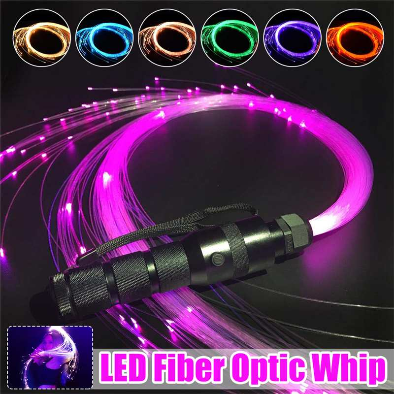 LED Light Optic Fiber Lights DC12V 40 Modes 150cm Fiber Optic Whip LED Lighting Long Lamp Lifespan Ambilight Lighting 3W
