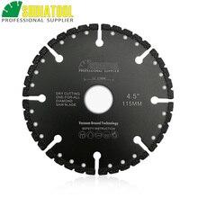 "SHDIATOOL 115mm Vacuum Brazed Diamond Blade For All Purpose For Stone Iron Cast Steel Aluminum 4.5"" Demolition Blade Bore 22.23"
