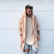 PUIMENTIUA Men Fashion 2019 New Mens Unisex Casual Cardigan Hooded Long Cloak Cape Coat Cosplay Loose Jacket