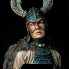 Unpainted-Kit Miniature Dragon Scale-Figure Bust Ancient Big-Base 1/10 Woman Resin