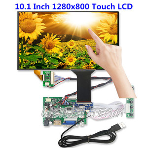 Kit de pantalla táctil LCD IPS de 10,1 pulgadas, 1280x800, compatible con Win7 8 10 Raspberry Pi, Android Linux, Panel táctil capacitivo de 10 puntos, USB 5V