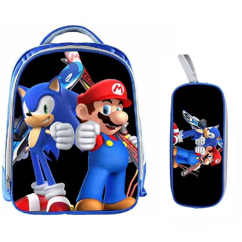 13 Inch Cartoon Sonic Backpack 19