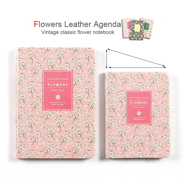 Cute Flowers Leather Notebook Diary Weekly Planner Agenda 2020 Notepad Mini Small Bullet Journal Stationery Filofax Organizer A5 5
