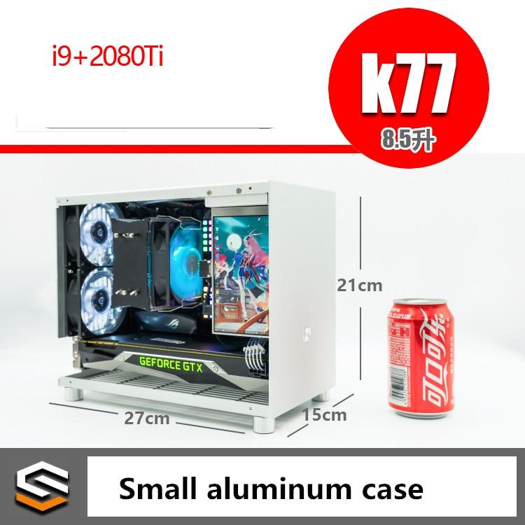 Todo o Alumínio 2080ti Itx a4 Pequeno Chassi Jogo Computador Host K77 – i5 i9 2060