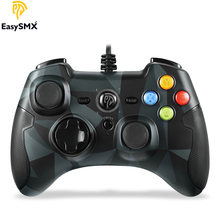 Easysmx ESM-9100 com fio controlador de jogo controle de video game com botão gatilho turbo controle para pc ps3 tv caixa android smartphone