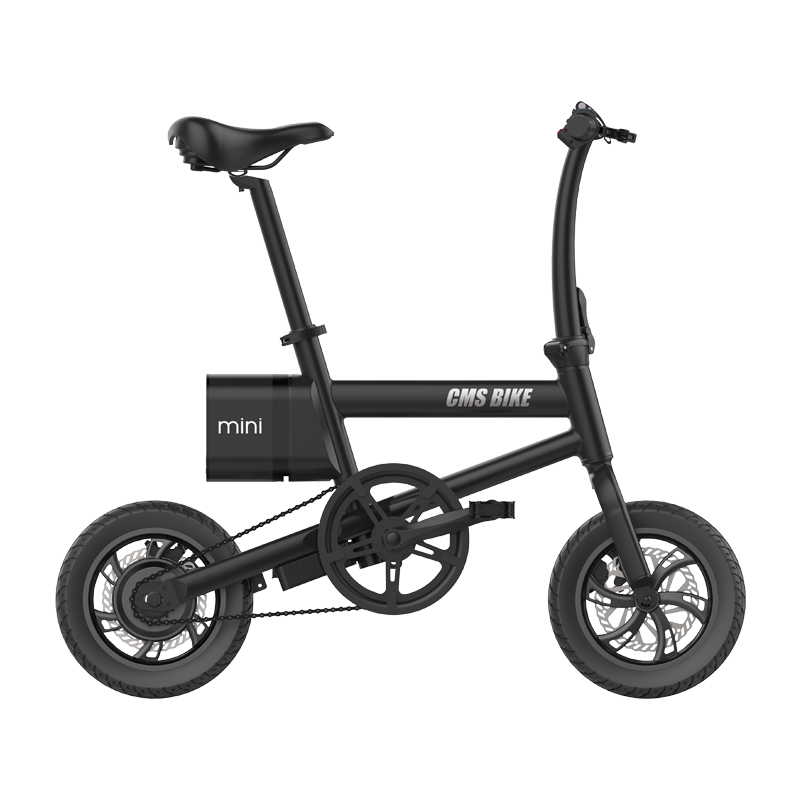 36V250W customized 12 inch folding electric bicycle lithium battery steel frame disc brake electric bike 1
