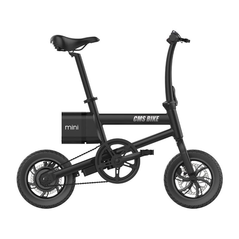 mini ebik 36V250W 12 inch folding electric bicycle  lithium battery LED displayer brushless motor ebike 1