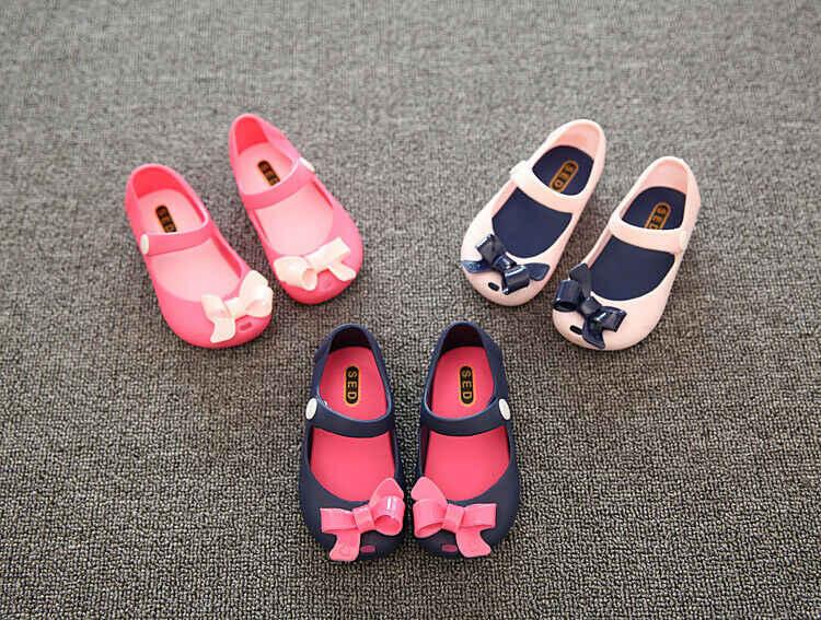 Pudcoco Kinderen Meisje Zomer Schoenen Baby Baby Meisjes Kids Prinses Sandalen Schoenen Antislip Plastic Boog Gesp Jelly Schoenen 1-6Y