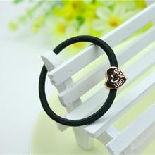 10pcs Lot Hair Clip Rope Women Black hair clip Elastic Rubber Band Ponytail Holder Headband New Fashion