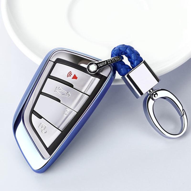 Funda de TPU suave para llave de coche, para BMW X5, F15, X6, F16, G30, 7, Serie G11, X1, F48, F39, carcasa de coche, llavero de protección StylingKey, novedad de 2019