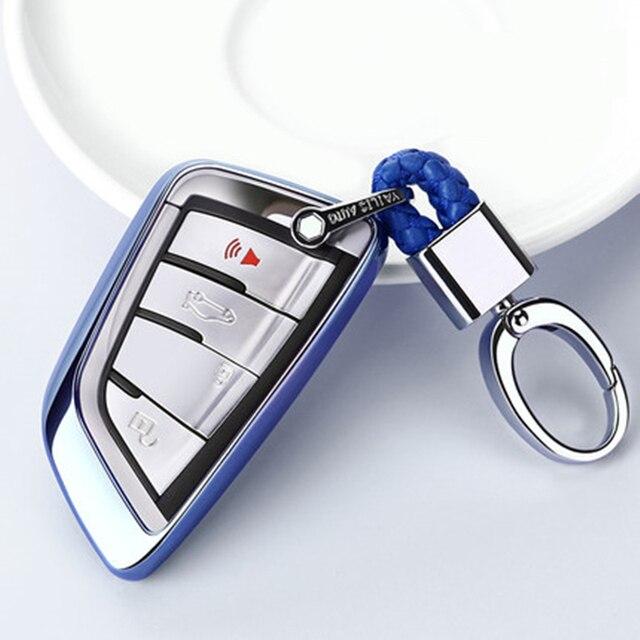 2019 nouveau étui souple pour voiture pour BMW X5 F15 X6 F16 G30 7 Serie G11 X1 F48 F39 coque de voiture porte clés de Protection