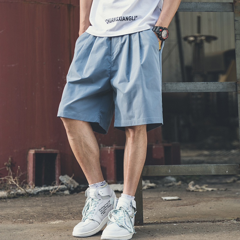 Streetwear Men Casual Shorts Summer Loose Shorts With Pockets Plus Size Beach Short Cargo Fashion Roupas Fitness Clothing XX60MS