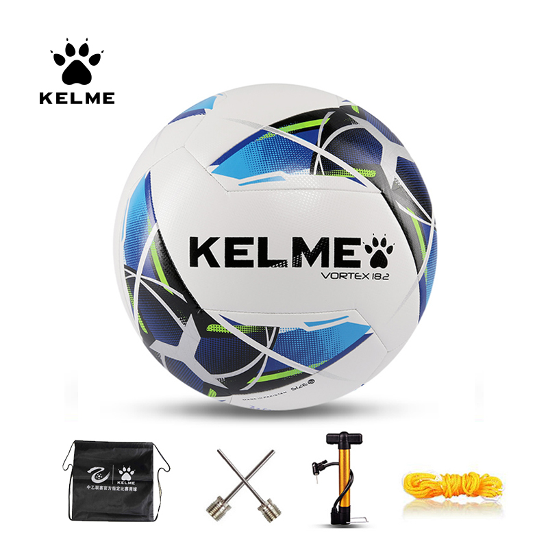 KELME Professional Soccer Ball Youth Training Competition Hand Sawing Soccer Football Ball Official Size 4 Size 5 9986520
