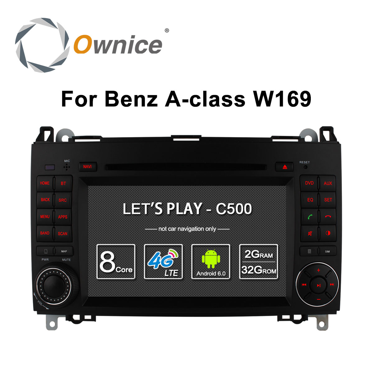 Ownice 4G SIM LTE Android6.0 8 Core 32G ROM Car DVD GPS Navi For <font><b>Mercedes</b></font> A-class <font><b>W169</b></font> Sprinter W209 Crafter Viano Vito LT3 W245 image