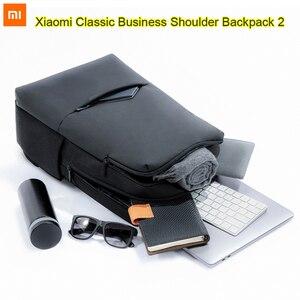 Image 5 - Nouveau Original Xiaomi classique affaires sac à dos à bandoulière 2 étanche 5.6 pouces ordinateur portable sac à bandoulière unisexe voyage en plein air 18L