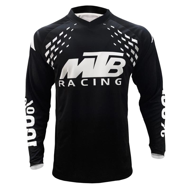 MTB Motorcycle Mountain Bike Team Cycling Jersey RPET Man Cycling Jersey Black Geometric Jersey Downhill Race Long Shirt