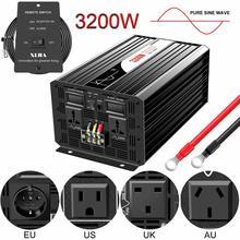 3200w 3000w onda senoidal pura inversor de energia solar dc 12v 24v 48v para ac 110v 220v display digital