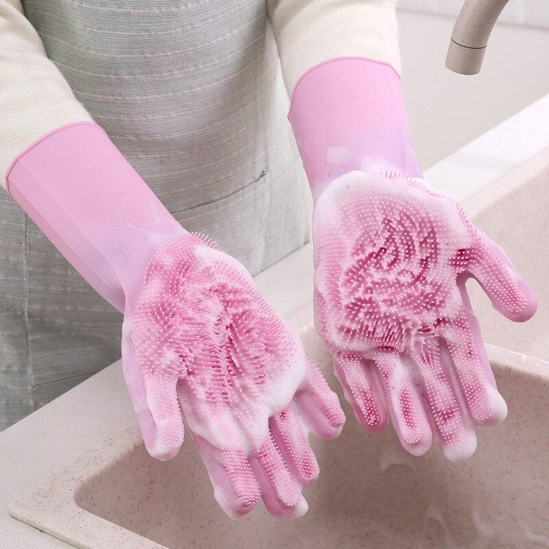 Кухонные гаджеты многофункциональные силиконовые перчатки для мытья посуды перчатки для кухни для удобства кухонных аксессуаров.